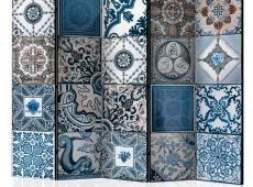 Paraván - Blue Arabesque II [Room Dividers]